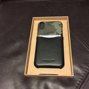 Coach camo IPhone X/xs case